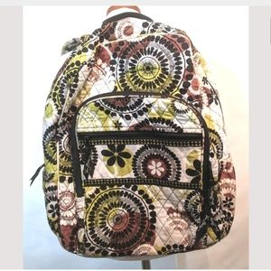 Vera Bradley Tech Backpack Campus Quilted Floral